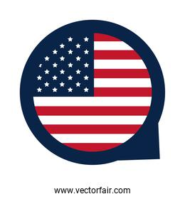 United States elections, national american flag freedom, political election campaign flat icon design