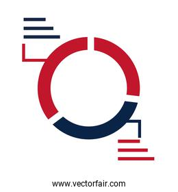 United States elections, infographic statistics report, political election campaign flat icon design