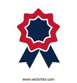United States elections, rosette flag decoration, political election campaign flat icon design