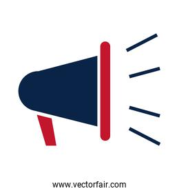 United States elections, advertising megaphone, political election campaign flat icon design
