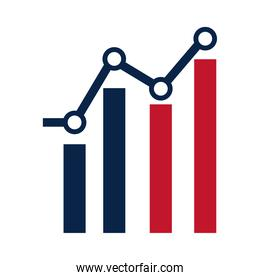 United States elections, statistics infographic campaign political election flat icon design