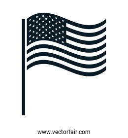 United States elections, waving flag national, political election campaign silhouette icon design