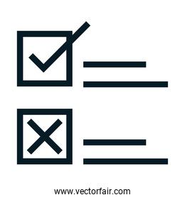 United States elections, choose republican or democratic candidate, political election campaign silhouette icon design