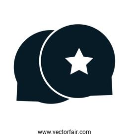 United States elections, speech bubbles star, political election campaign silhouette icon design