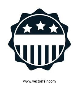 United States elections, american flag emblem national, political election campaign silhouette icon design