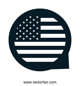 United States elections, national american flag freedom, political election campaign silhouette icon design