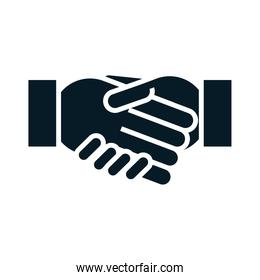 United States elections, candidates handshake, political election campaign silhouette icon design