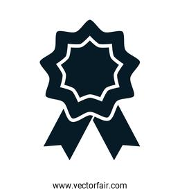 United States elections, rosette flag decoration, political election campaign silhouette icon design