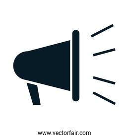 United States elections, advertising megaphone, political election campaign silhouette icon design