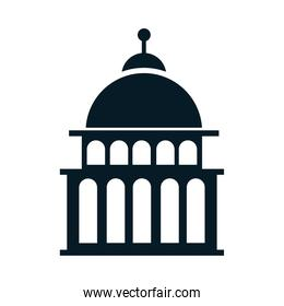United States elections, capitol building political election campaign silhouette icon design