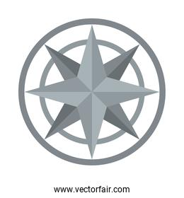 compass star icon, flat style