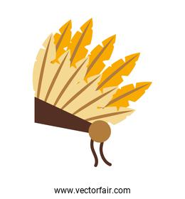 native indian hat icon, flat style