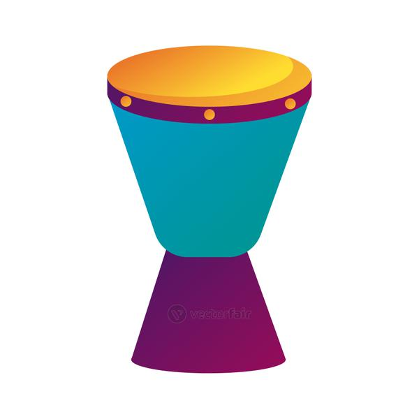 bongo drum instrument line and fill style