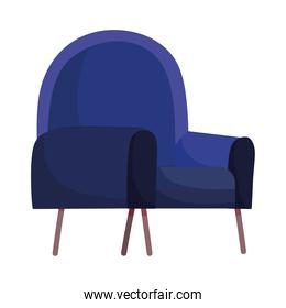 blue chair furniture comfort isolated design white background