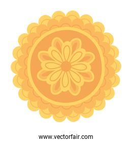 mooncake sweet traditional chinese food isolated icon style