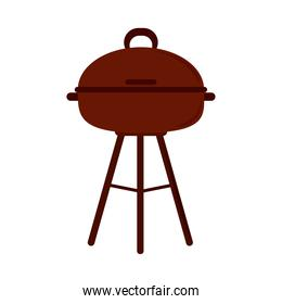 barbecue grill equipment cooking flat icon style