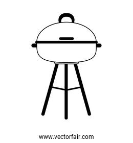 barbecue grill equipment cooking line icon style