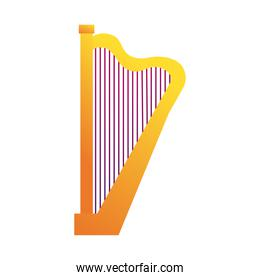 harp string instrument line and fill style icon