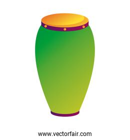 bongo drum instrument style line and fill icon