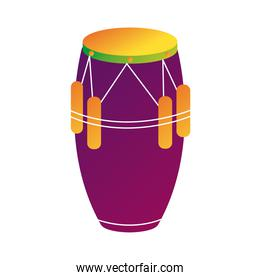 tropical bongo drum instrument line and fill style icon