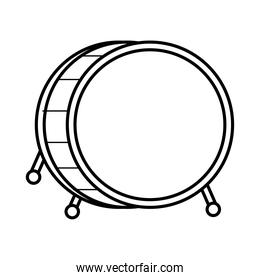 drum musical instrument line style icon