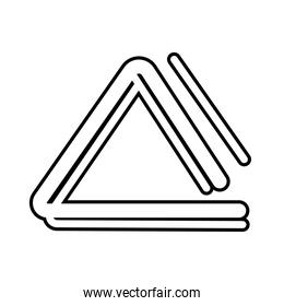triangle musical instrument line style icon