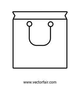 bag shopping style line icon