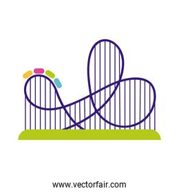 roller coaster mechanical fairground attraction flat style