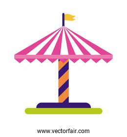 tent spin mechanical fairground attraction flat style icon