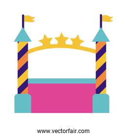 castle air mechanical fairground attraction flat style icon