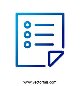 paper document file with text lines gradient style icon