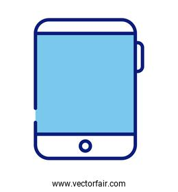 tablet device electronic line and fill style icon