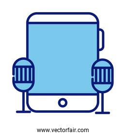 tablet device electronic style line and fill icon