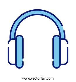earphone audio device line and fill style icon
