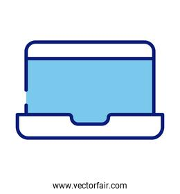 laptop computer device line and fill style icon