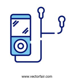 music player mp3 line and fill style icon