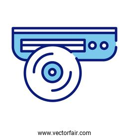 cd player line and fill style icon