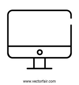 desktop computer all in one line style icon