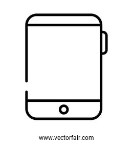 tablet device electronic line style icon