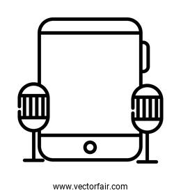 tablet device electronic style line icon