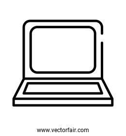 laptop computer portable device line style icon
