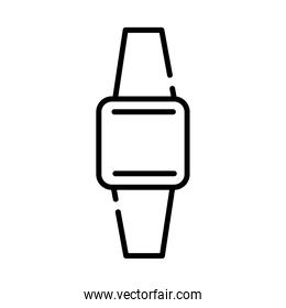 smartwatch device style line icon