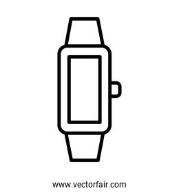 smartwatch device line style icon