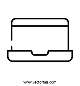 laptop computer device line style icon
