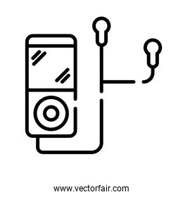 music player mp3 line style icon