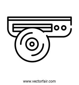 cd player line style icon