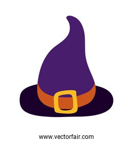 halloween witch hat flat style icon