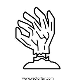death hand line style icon