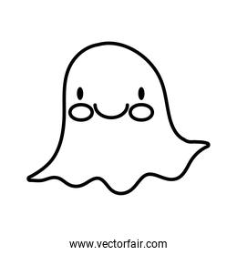 halloween ghost boo line style icon
