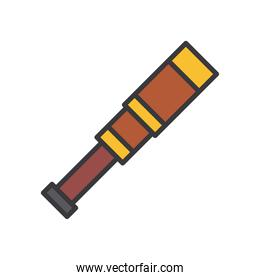 telescope line and fill style icon vector design